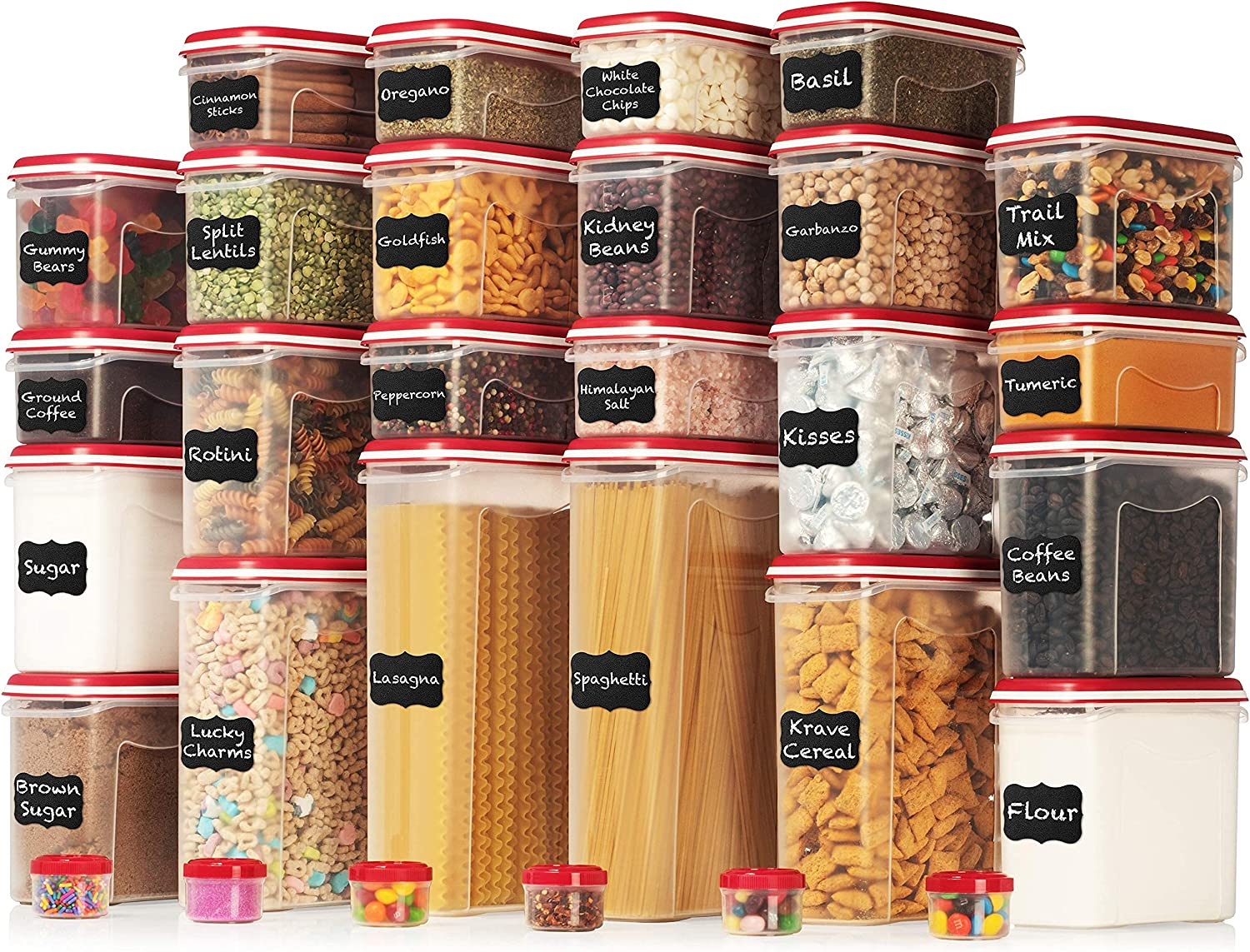 LARGEST Set of 60 Pc Airtight 30 Storage Food Contai Ultra-Cheap Deals outlet Containers