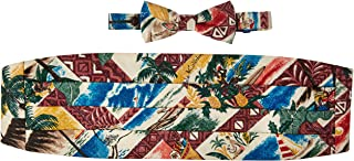Reyn Spooner Men's Hawaiian Christmas Cummerbund & Bow Tie Set