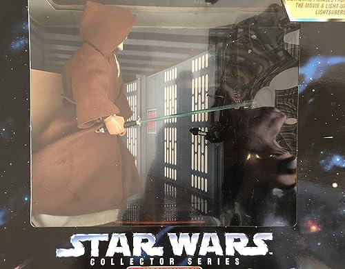 Darth Vader & Obi-Wan Kenobi Electronic Power F X 12  Inch, 30 cm Actionfiguren - Star Wars Power of the Force Collection 1997 von Hasbro