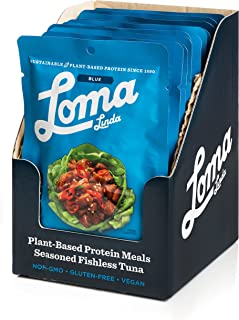 Loma Linda Blue - Plant-Based Meal Solution - Thai Sweet Chili Fishless Tuna (3 oz.) (Pack of 12) - Non-GMO, Gluten Free