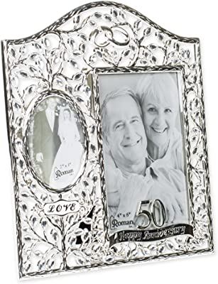 Rhinestone Bead Encrusted 40th 3 x 4.5 inch Zinc Alloy Table Top Picture Frame