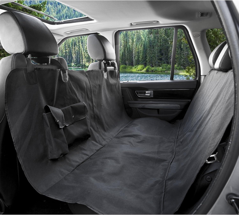 BarksBar Original Pet Seat Cover for Large Cars, Trucks and SUVs  Black, Waterproof & Hammock Congreenible (XLarge, Black)