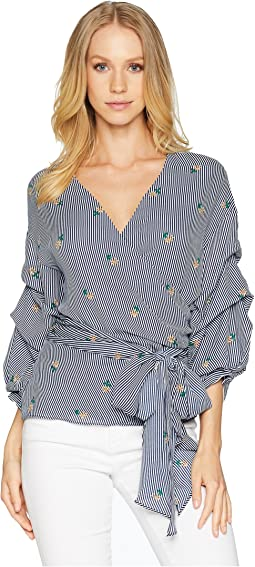 Majorca Stripe Wrap Top