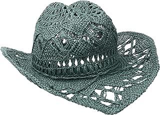 'ale by alessandra Women's Caballera Crochet Toyo Cowboy With Memory Wire Brim