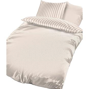 BRAND sseller algodón de alta calidad - - Juego de ropa de cama reversible (satén rayas