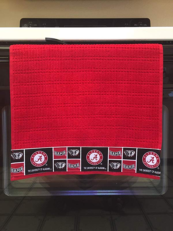Licensed University Of Alabama Kitchen Towel 16 X 28 Inches 100 Cotton Machine Washable