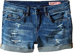 Blank NYC Kids - Distressed Cuff Denim Shorts in Weekend Warrior (Big Kids)
