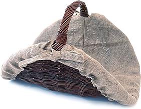 Franz Müller Flechtwaren Mimbre Cesto semicircular, Yute (, Fuegos Cuencos y cestas, marrón, 70x 50x 50cm