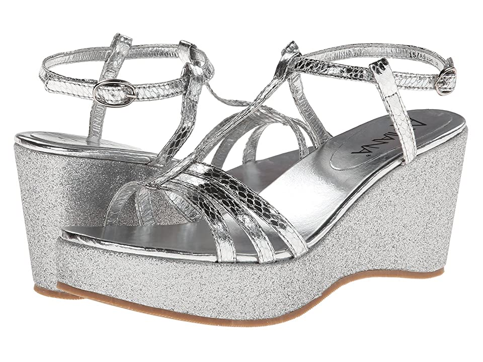 Amiana 15-A5136 (Little Kid/Big Kid/Adult) (Silver Snake Print) Girls Shoes