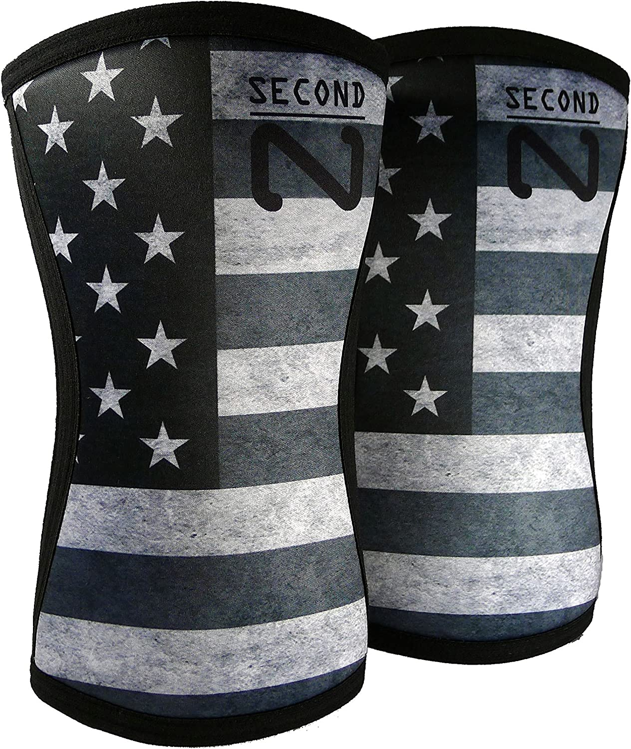 Second Nature Knee Sleeves (1 Pair) 7mm Neoprene Support for Weightlifting, Powerlifting & Squats  Unisex