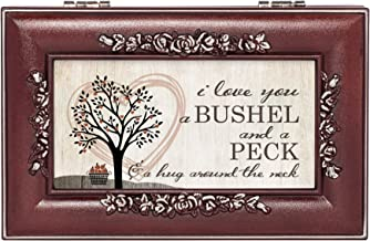 Cottage Garden Love You Bushel Peck Hug Rosewood Jewelry Music Box Plays You are My Sunshine
