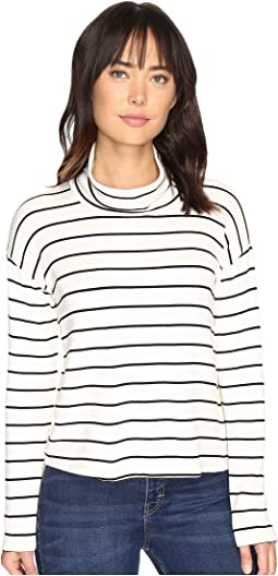 Dune Stripe Crop Turtleneck