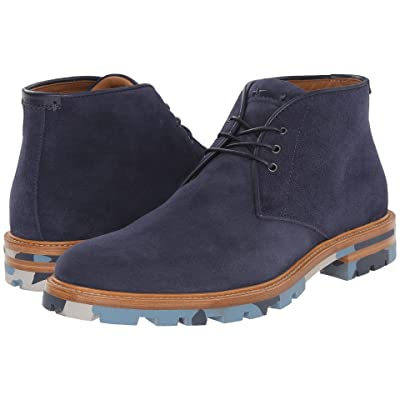 Aquatalia Jeffrey (Navy Dress Suede) Men