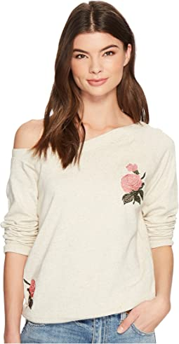 Lucky Brand - Embroidered Rose Sweatshirt