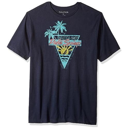 5c17863f Nautica Men's Tall Short Sleeve Crew Neck Cotton Tshirt