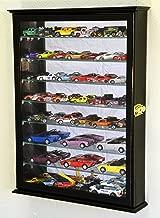 7 Adjustable Shelves Mirrored Hot Wheels / Matchbox / Diecast Cars / 1/64 1/43 Model Display Case Cabinet, Black