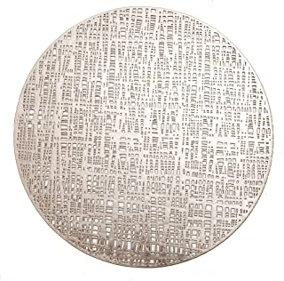 6 PCS Vinyl Round Placemats,Heat Resistant Table mats,perfect for holiday decoration,restaurant and wedding.
