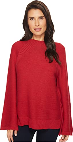 Vince Camuto - Mock Neck Bell Raglan Sleeve Sweater