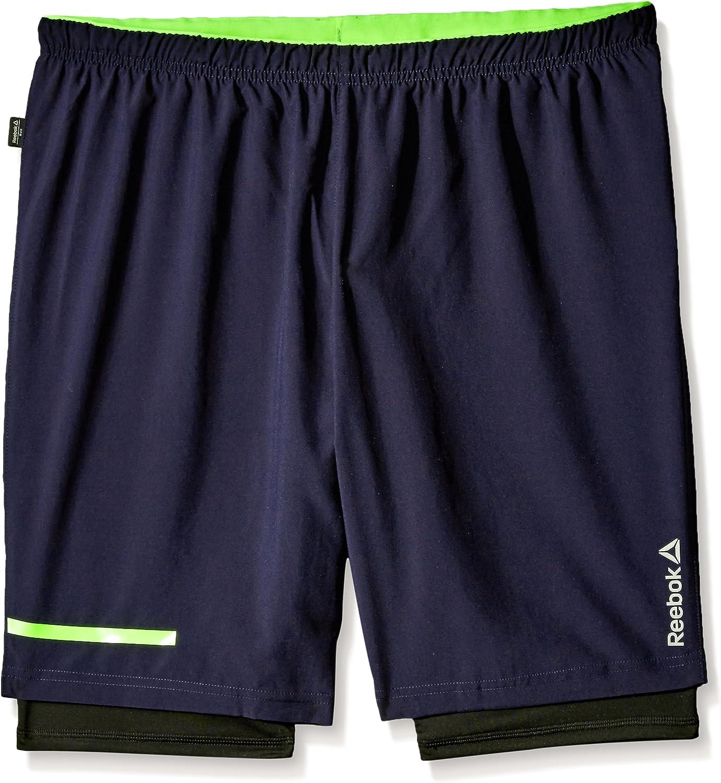 Reebok Max 73% OFF Men's One Series Albuquerque Mall 2-1 Running Shorts
