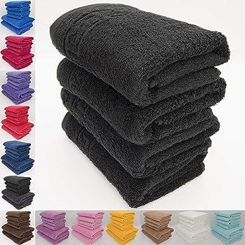 Lot de 12/serviettes de toilette 100//% coton 550/g//m/² Casabella 100 /% coton Noir Classic 550 GSM Face Towel