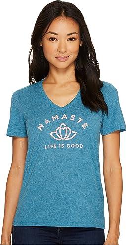 Life is Good - Namaste Lotus Heart Cool Vee