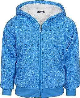 Real Love Girl's Fleece Full-Zip Hooded Sweatshirt with Sherpa Lining