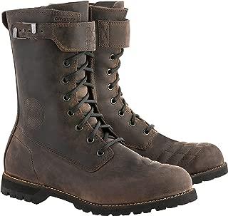 Firm Drystar Leather Waterproof Motorcycle Boot (9, Dark Brown Oiled)
