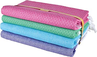 Sathiyas Quick Dry Cotton Bath Towels - Pack of 4 (Pink, Green || Blue, Lavender (asvtwl390))