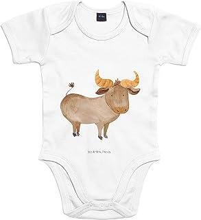 Mr. & Mrs. Panda Strampler, Babysuit, 3-6 Monate Baby Body Sternzeichen Stier - Farbe Transparent