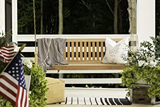 5 foot wooden porch swing