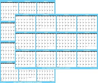 "$21 » 24"" x 36"" SwiftGlimpse 2021 Wall Calendar Erasable Large Wet & Dry Erase Laminated 12 Month Annual Yearly Wall Planner, Re..."