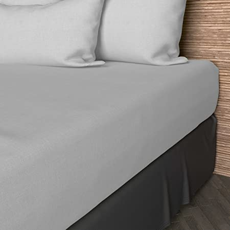 Soleil d'ocre 614800 Drap Housse coton 57 Fils Uni Blanc 160 x 200 cm