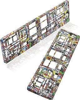 buntes Abstraktes Lackmuster Aluminium 15,2 x 30,5 cm Auto-Zubeh/ör Glitzer und Glitzer Nummernschild-Halterung Fhdang Dekoration