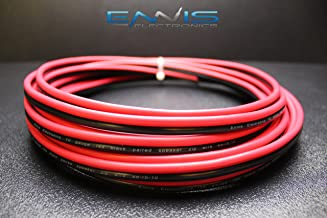 10 GAUGE 50 FT RED BLACK SPEAKER ZIP WIRE AWG CABLE POWER STRANDED COPPER CLAD BY ENNIS ELECTRONICS