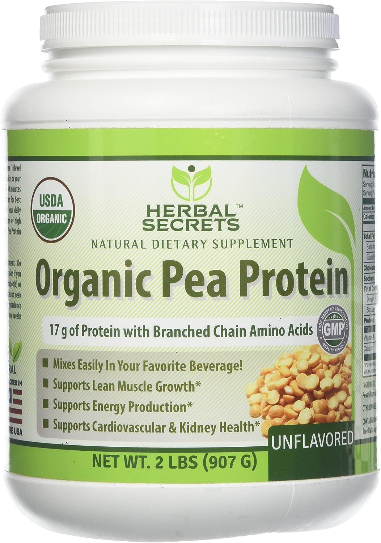 Herbal Secrets Organic Pea Protein Powder lbs 2 Non-GMO - Max 85% OFF Ranking TOP17 Unfl