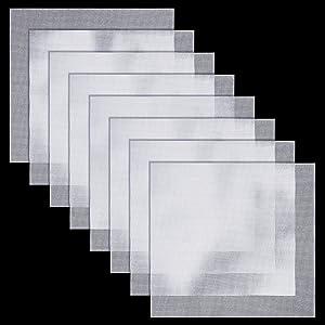 8 Pieces Silicone Dehydrator Sheets Non Stick Dehydrator Supplies Reusable Thin Mesh Sheet Food Dryer Dehydrator Mats Fruit Dryer Mesh Steamer Mesh Mat for Food Dehydrator Machine, 14.6 x 15.7 Inch