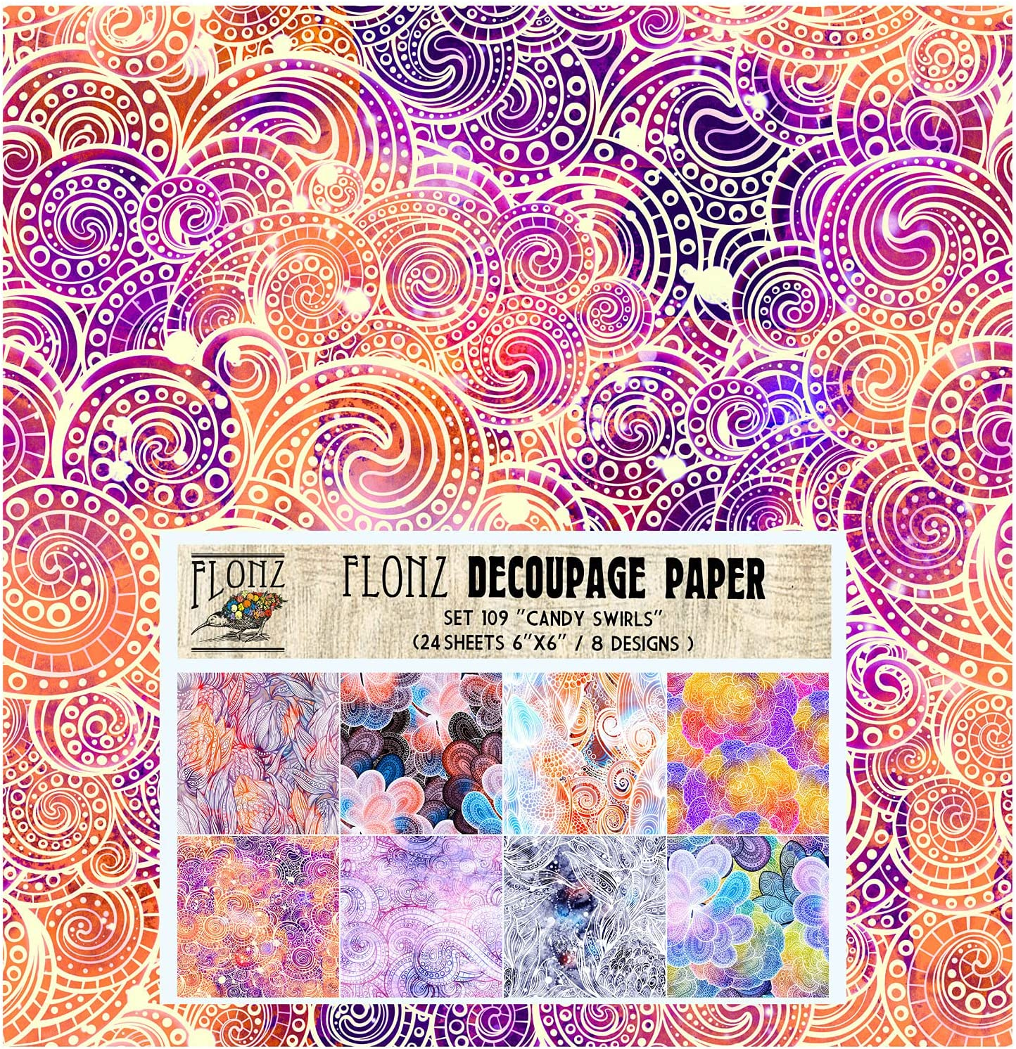 Decoupage Paper Pack 24 Sheets 6