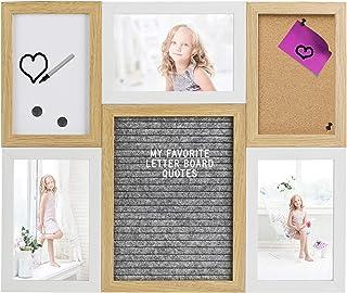 Gadgy ® Letter Board, Tablero Corcho y Pizarra Blanca en uno | Tamaño 40,5 x 33,8 x 1,5 cm | Con 170 letras blancas, 2 Imanes, 2 Chinchetas y 1 Marcador