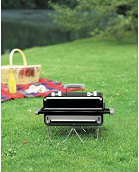 "Weber 121020 Go-Anywhere Charcoal Grill,Black,14.5"" H x 21"" W x 12.25"" L"
