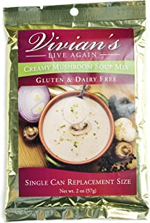 Gluten Free Cream of Mushroom Soup Mix by Vivian's Live Again- Dairy Free Single Packet