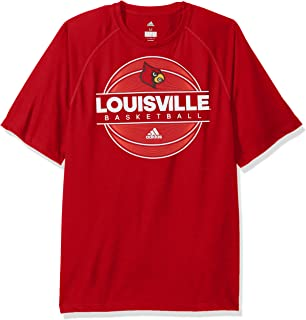 NCAA Louisville Cardinals Mens 2017 On Court Climalite S/Tee2017 On Court Climalite S/Tee, Power Red, Large