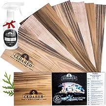 Grilling Planks Set - 8 Natural 100% Cedar Boards, Amazing Cedar Aroma, For Cooking Salmon, Shrimp, Fish, Meats, Vegetable...