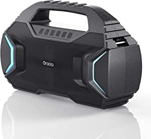 Bluetooth Speaker,Oraolo M100 Portable Bluetooth Speaker with 40W Loud Stereo,Sound Rich Bass 10000mAh Battery Power,Bluetooth 5.0,TWS LED Lights,Speaker for Home,Outdoor,Travel