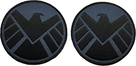 Patch Squad Men's Avengers Movie Shield Costume Shoulder Patch Set of 2( Hook Backing)