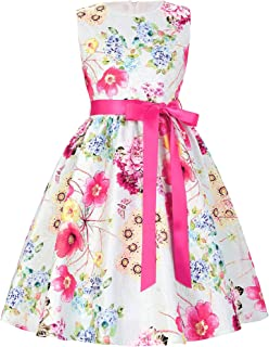 GRACE KARIN Girls Casual Flared Floral Swing Dresses