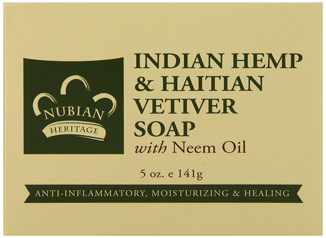 状ハブ割り当てるNubian Heritage 石鹸、インド大麻、5オンス(シングルパック)