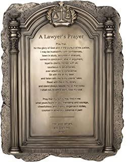 Amazon Exclusive - Scales of Justice - A Lawyer's Prayer Plaque Desktop or Wall Mount - Perfect Present for Lawyers and Law School Students