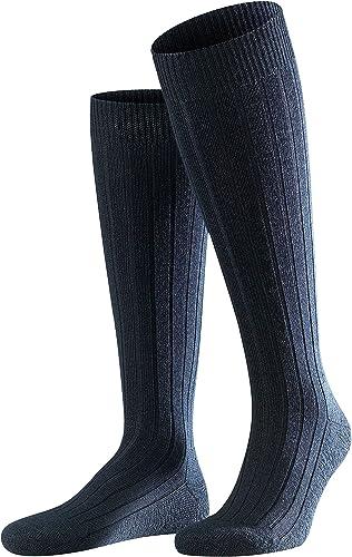 FALKE Men's Teppich Im Schuh Knee-High Socks Merino Wool Black Grey More Colours Warm Thick Ribbed Heavy Duty Long So...