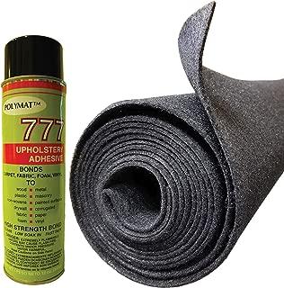 Polymat 16FT X 3.75FT Charcoal + 1 777 Glue Speaker Box Carpet