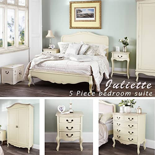 Etonnant Juliette Shabby Chic Champagne Double Bed 5pc Bedroom Furniture Set, FULLY  ASSEMBLED